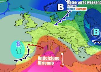 L'anticiclone africano abbraccerà l'Italia