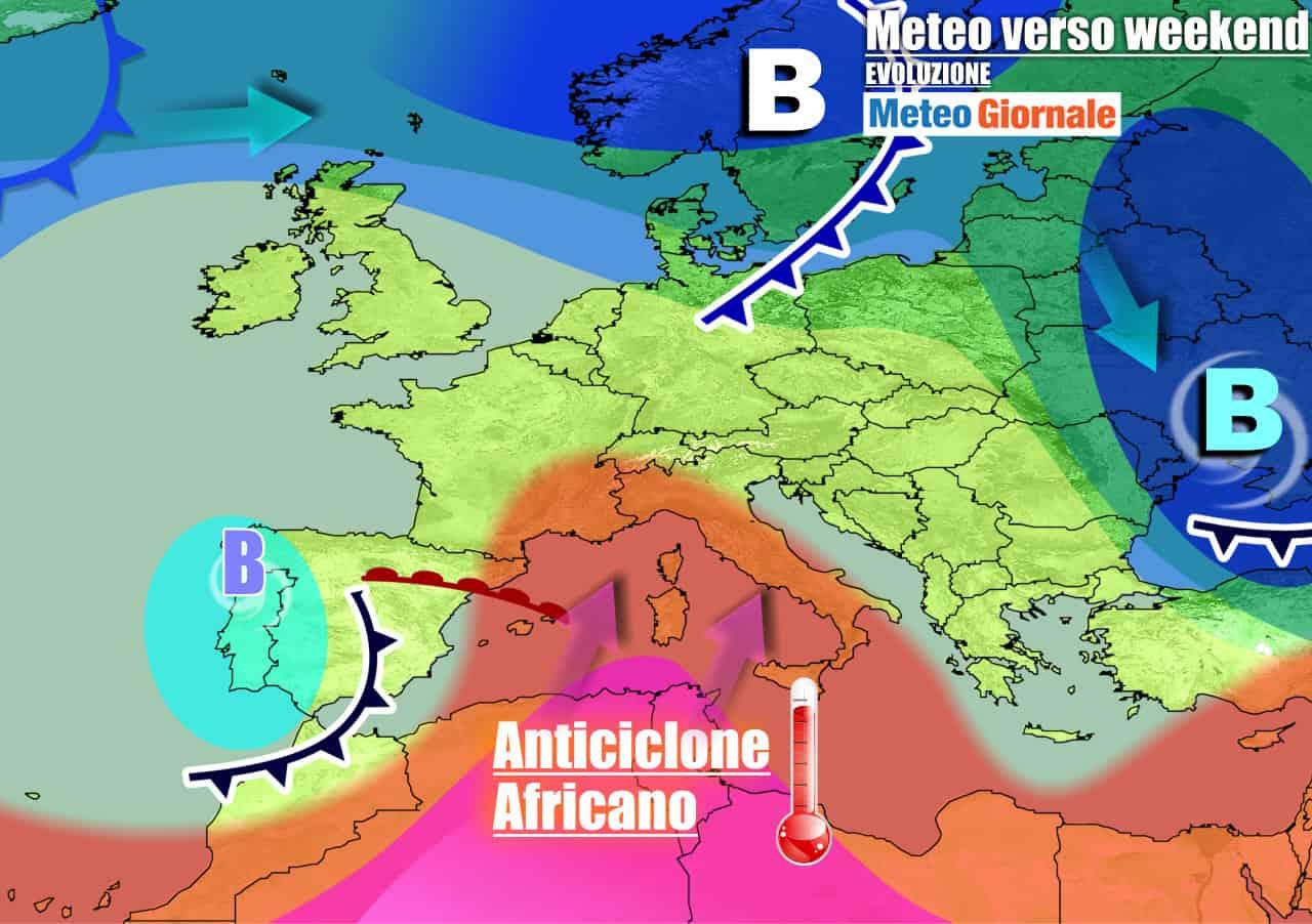 L039;anticiclone africano abbraccerà l039;Italia