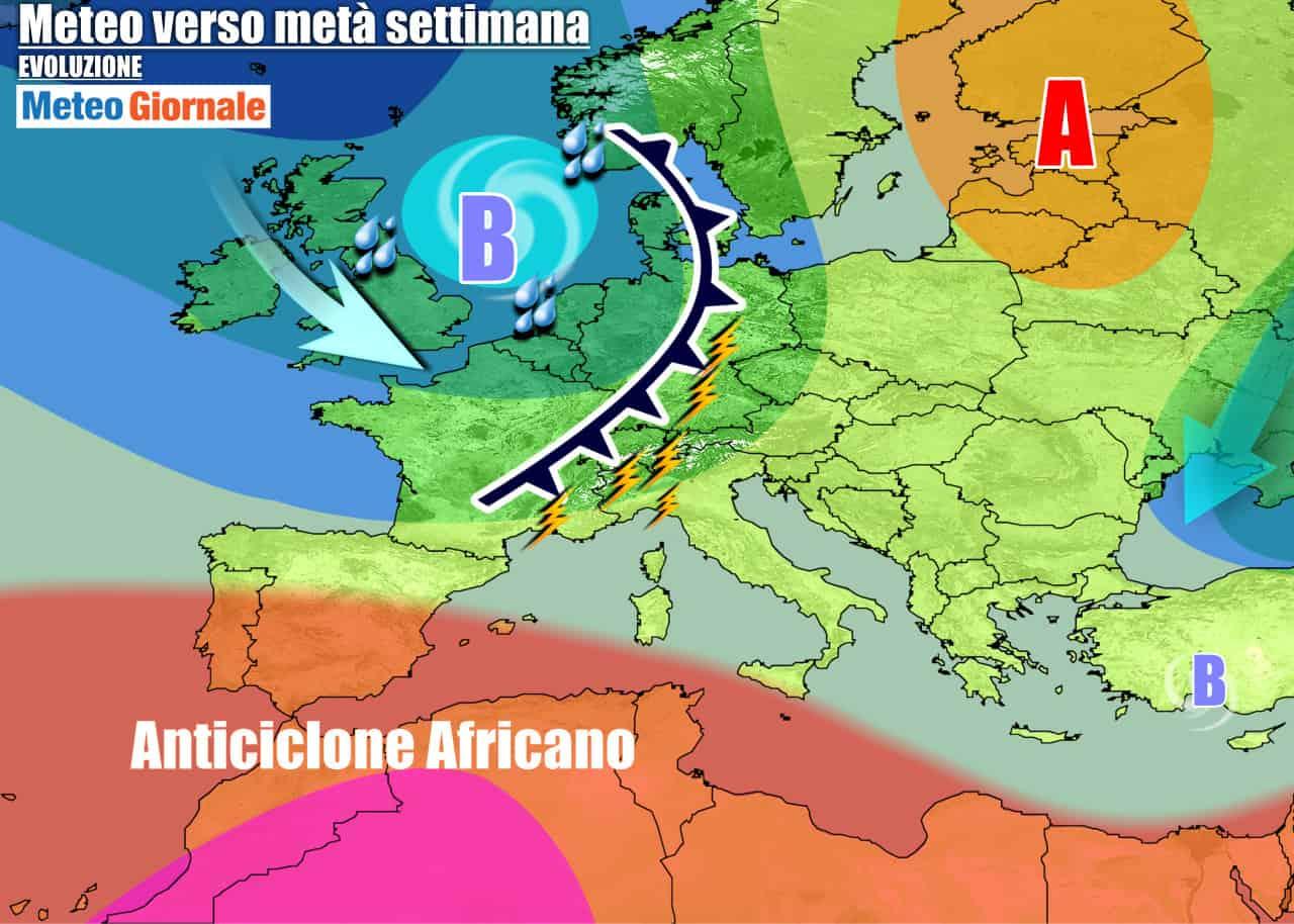 meteogiornale previsioni 7 giorni 28 - Meteo settimana altri TEMPORALI, e STOP al CALDO estivo