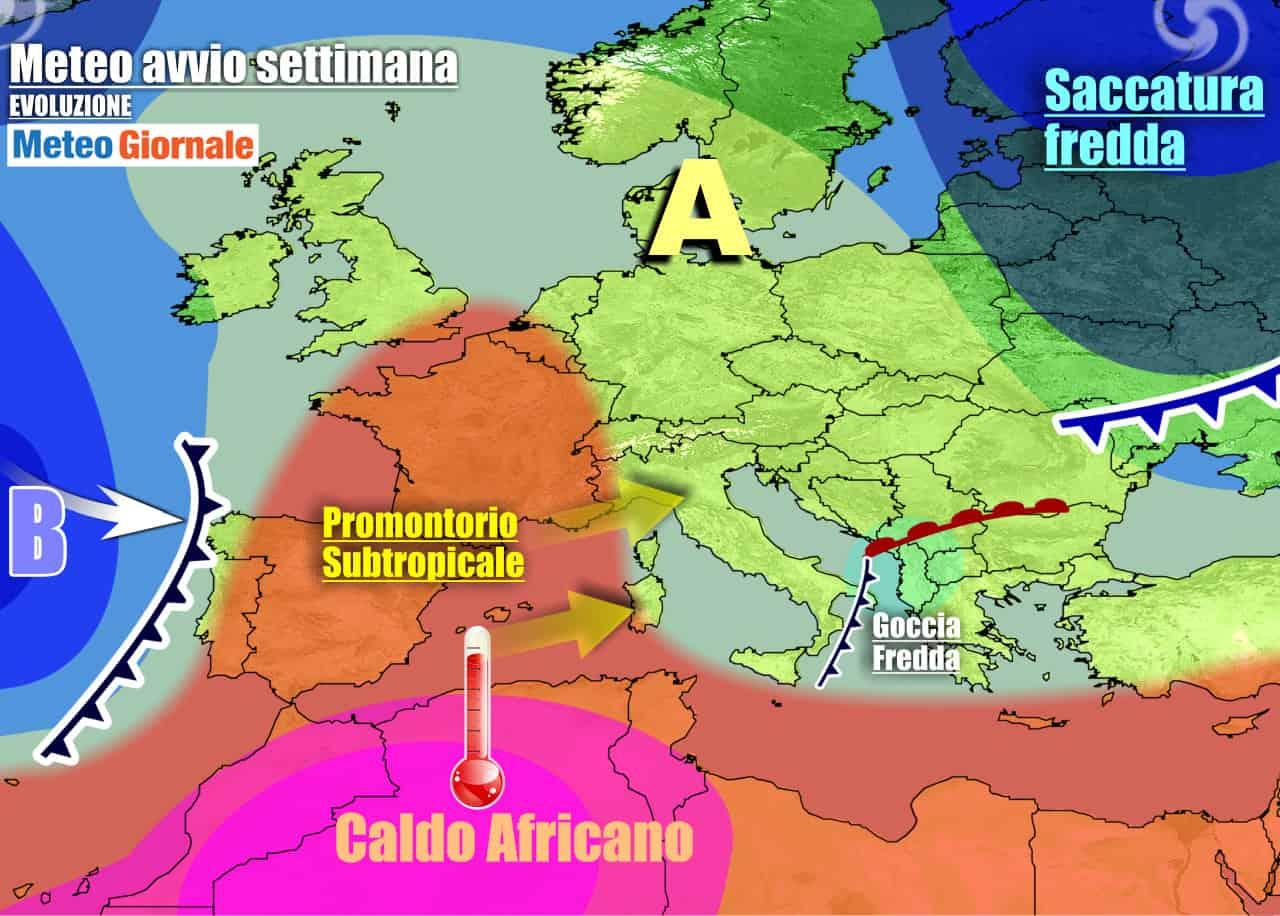 meteogiornale previsioni 7 giorni 3 - Meteo 7 giorni: TEMPORALI nel WEEKEND, rischio NUBIFRAGI. Poi novità