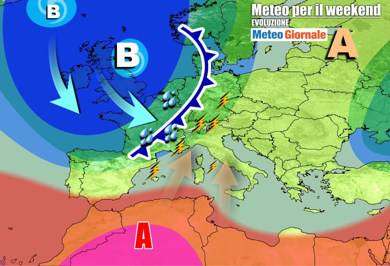 meteogiornale previsioni 7 giorni 31 - Meteo 7 Giorni: PEGGIORA durante weekend, si avvicina FORTE PERTURBAZIONE