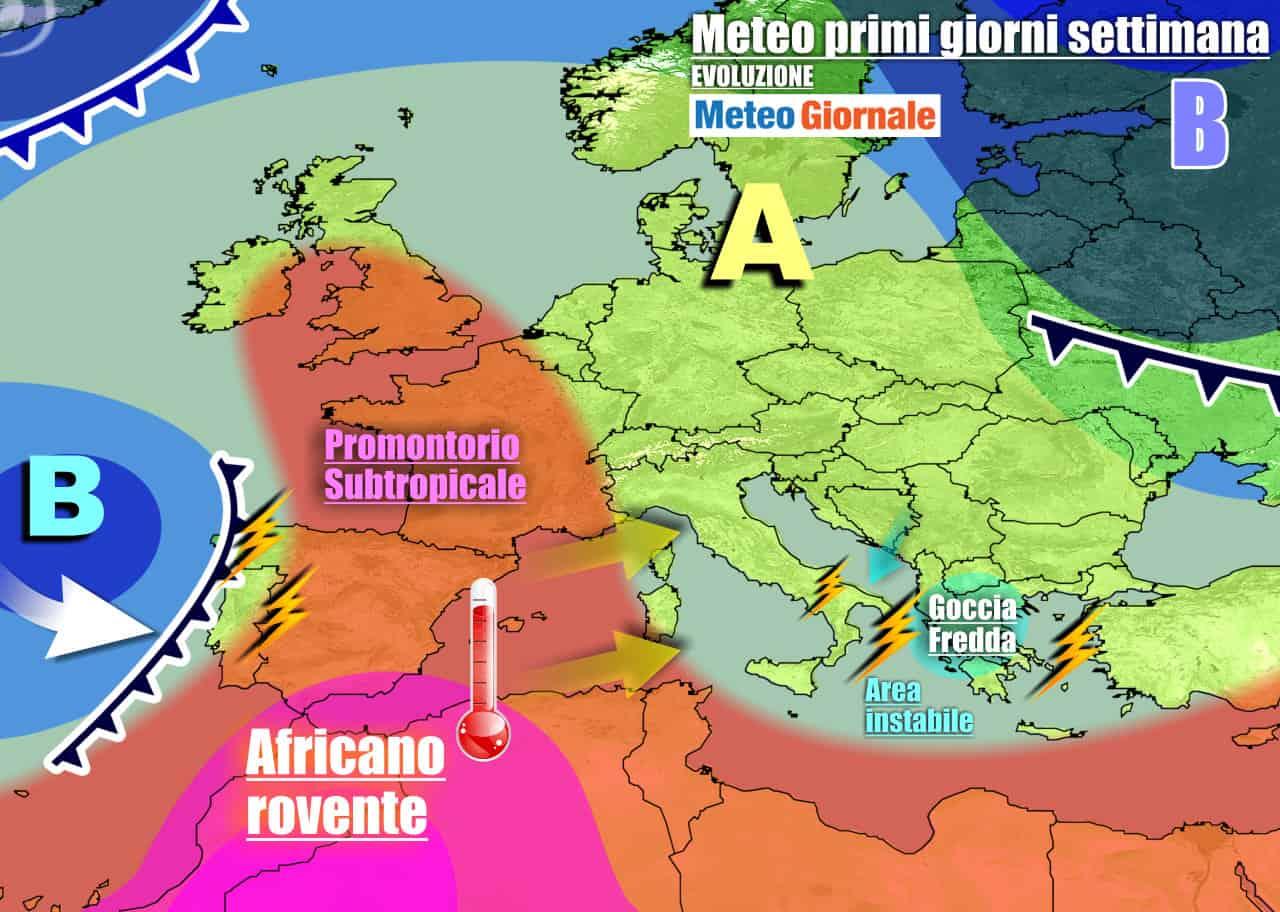 meteogiornale previsioni 7 giorni 4 - Meteo 7 giorni: torna l'ANTICICLONE con clima da tarda estate. Poi CAMBIA