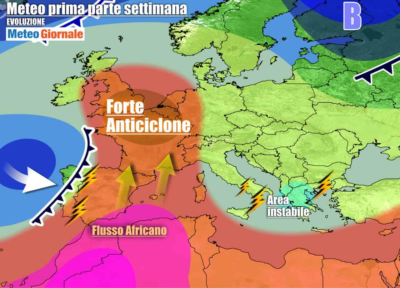 meteogiornale previsioni 7 giorni 5 - Meteo 7 giorni: arriva l'ANTICICLONE dal sapore estivo. Ma AUTUNNO incombe