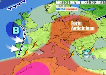Contesto tipico da tarda estate sull'Italia, per l'autunno c'è ancora da attendere