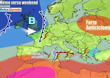 Sud Italia nel mirino di nuovi temporali al termine della settimana