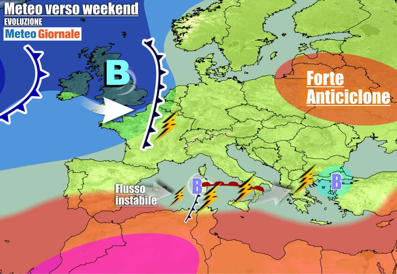 meteogiornale previsioni 7 giorni 8 - Meteo 7 giorni: nuovo insidioso VORTICE punta il Sud. Nel weekend NUBIFRAGI