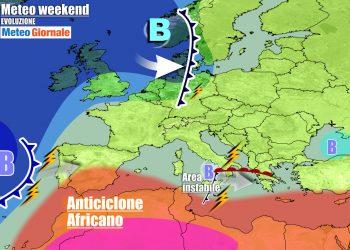 Disturbi sull'Italia, ma solo in parte, con il vero autunno che stenta ancora a venire