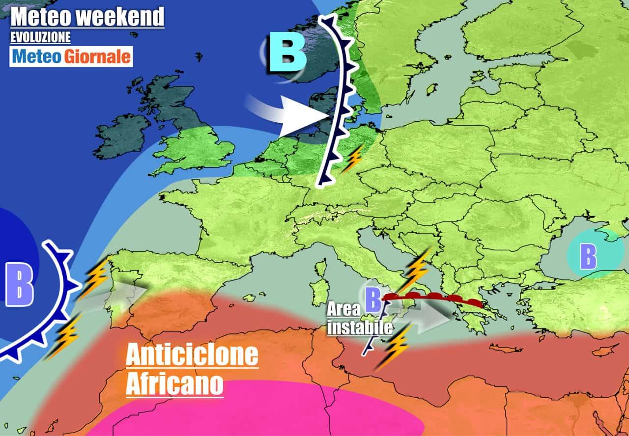 meteogiornale previsioni 7 giorni 9 - Meteo 7 giorni: CICLONE irrompe da ovest, TEMPORALI all'assalto dell'Italia