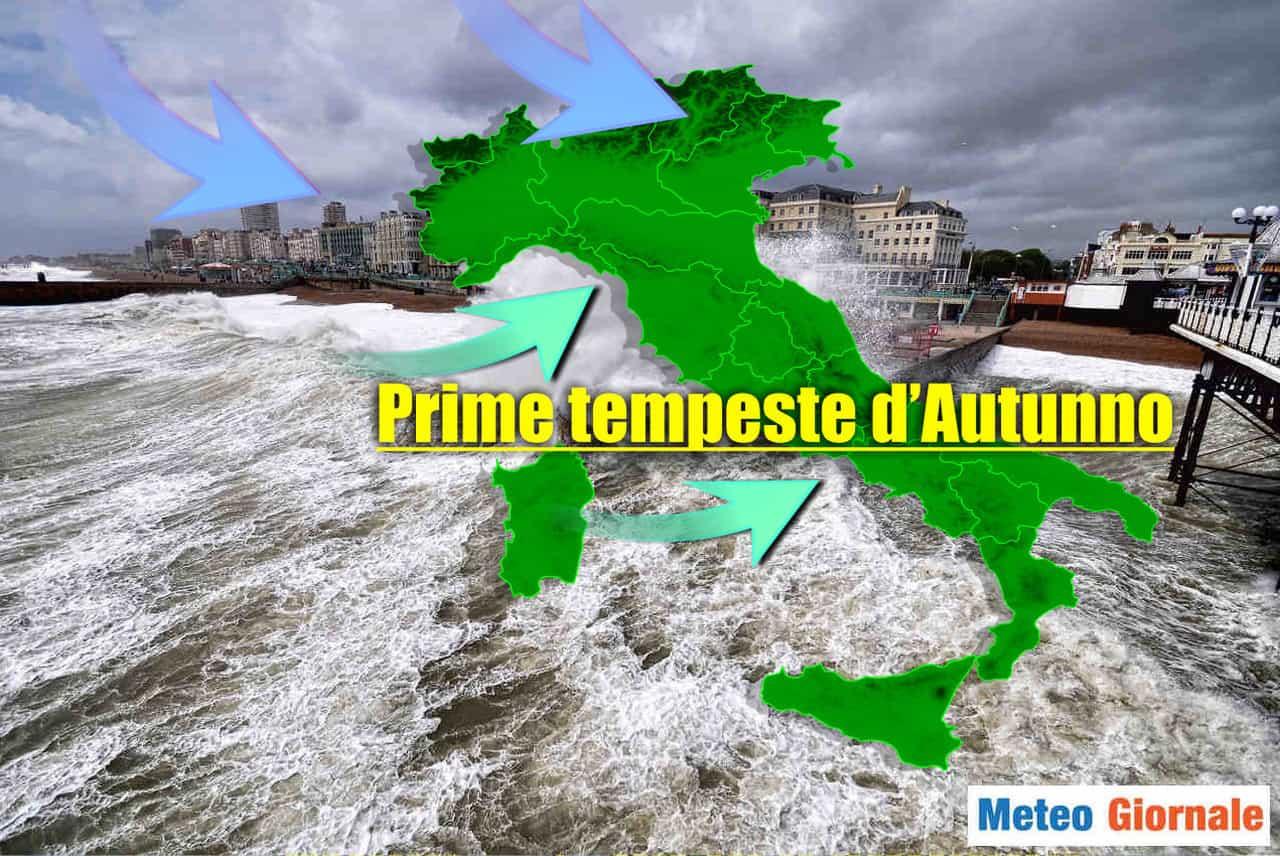 tempeste autunno - CALO TEMPERATURE, l'autunno ci prova. Meteo di Ottobre evoluzione stravolta