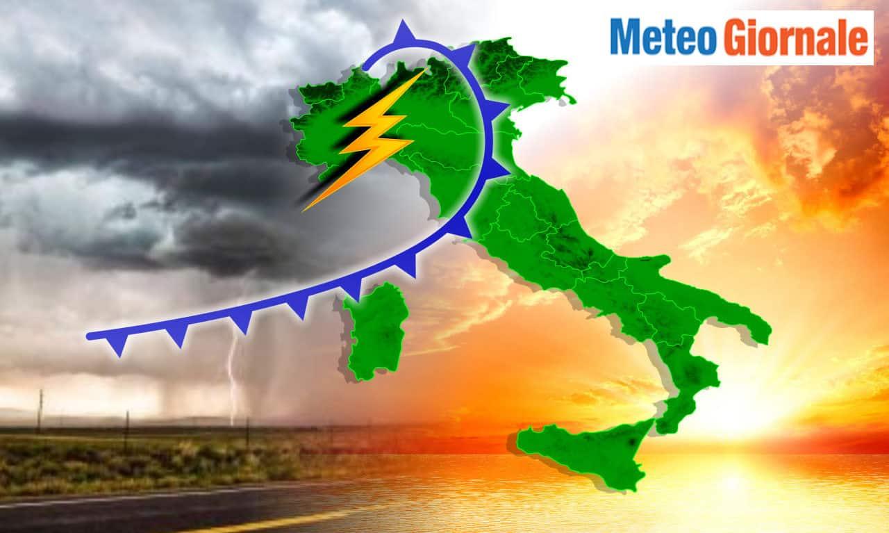 temporali forti - Imminente meteo verso peggioramento intenso su molte regioni d'Italia