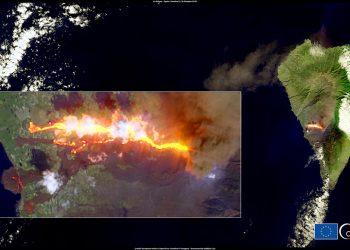 Cumbre Vieja, il vulcano delle Canarie in eruzione.