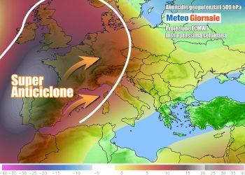 L'alta pressione tornerà a dominare nella prossima settimana
