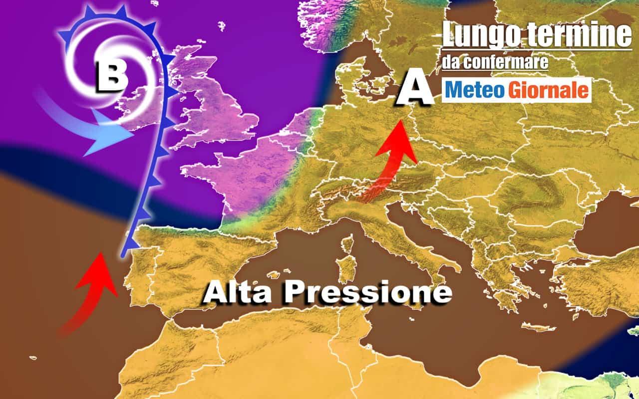 lungo termine 6 - METEO Italia al 23 Ottobre, l'ANTICICLONE proverà a tornare
