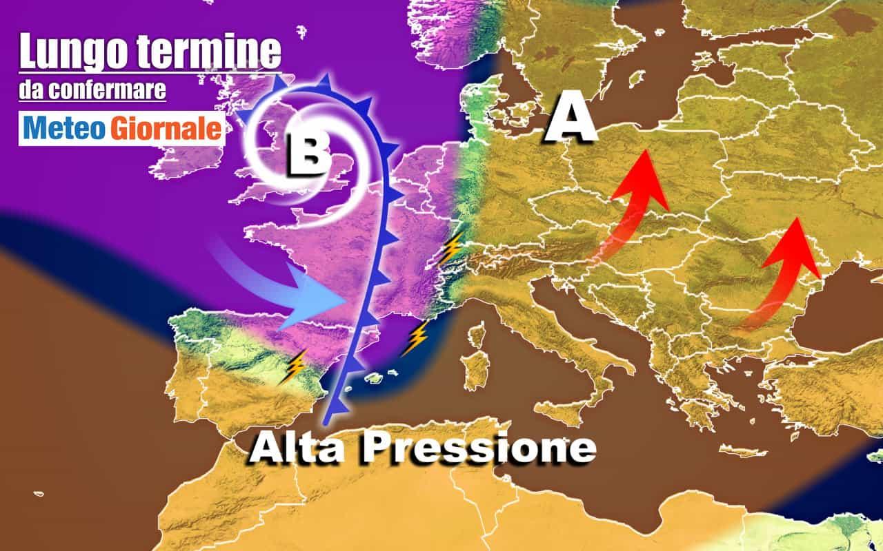lungo termine 7 - METEO Italia al 24 Ottobre, dal freddo alle PERTURBAZIONI atlantiche