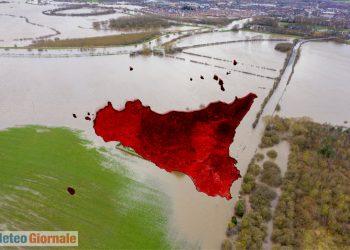 Allarme rosso in Sicilia per maltempo.