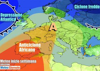Anticiclone costringerà le perturbazioni atlantiche a transitare ancora molto a nord