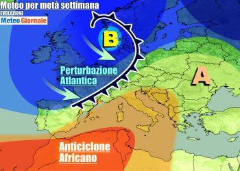 Avanza perturbazione verso l'Italia