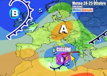Insidioso ciclone mediterraneo influenzerà il tempo sull'Italia