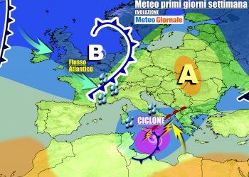 Italia nel mirino di perturbazioni che alimenteranno la circolazione ciclonica sul Mediterraneo