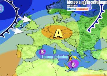 Insidiosi vortici sul Mediterraneo nel corso della settimana