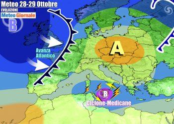 Ciclone simil uragano sul Mediterraneo