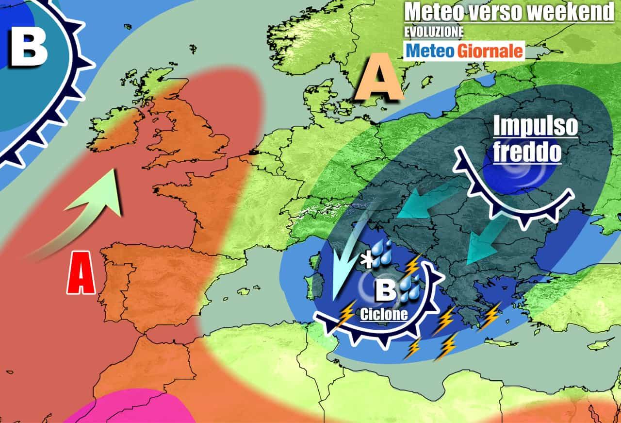 meteogiornale previsioni 7 giorni 5 - Meteo 7 Giorni. AUTUNNO pieno, impulsi freddi in serie con PIOGGIA e NEVE