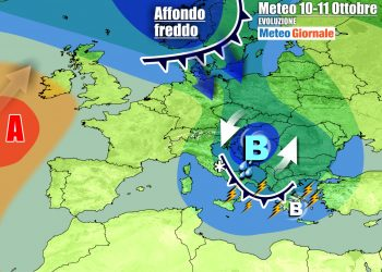 Si va verso condizioni meteo tardo autunnali anche per la prossima settimana