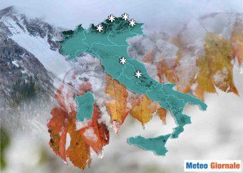 L'autunno farà sul serio, con anche la neve