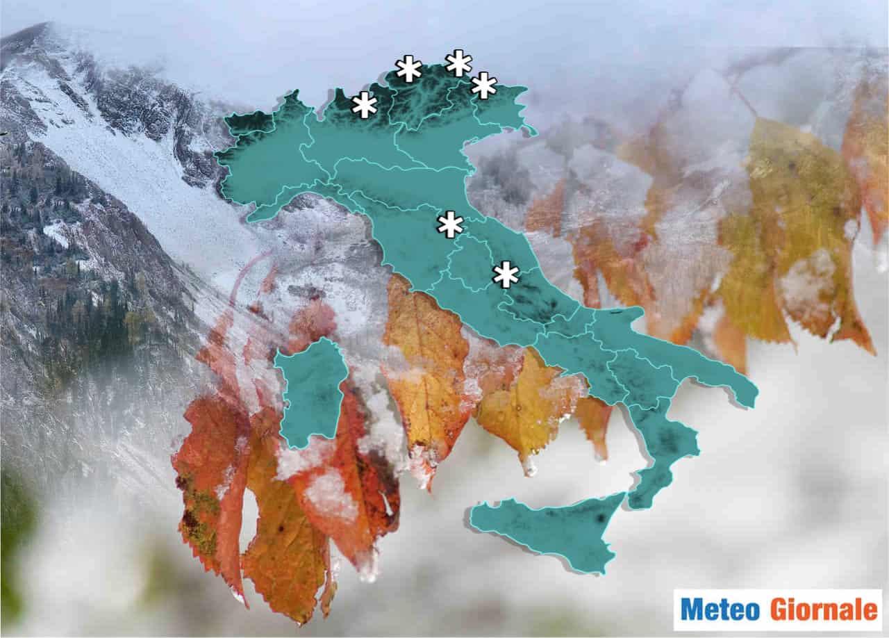 neve italia autunno - METEO dal caldo al freddo, in arrivo persino la NEVE su Alpi e Appennino