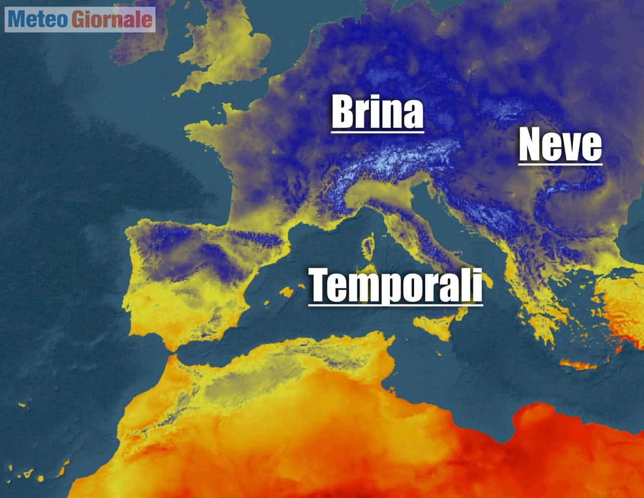 situazione ed evoluzione meteo - METEO con CROLLO Temperatura di 10-15 gradi: è l'Autunno del cambiamento climatico