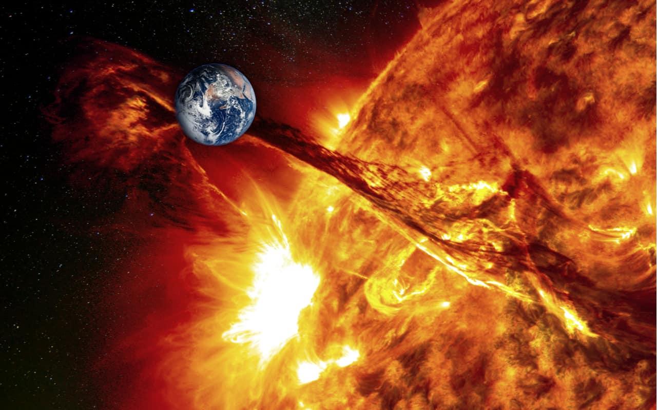 sole e terra - Tempesta Solare e la possibilità di Fine del Mondo civile che conosciamo