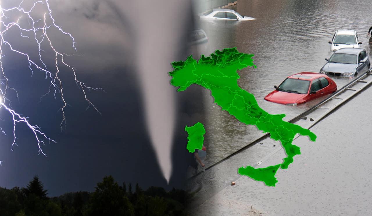 tornado alluvioni italia 1 - METEO: temporali e alluvioni, TORNADO si abbattono in Val Padana. VIDEO